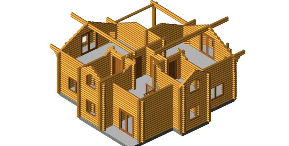 """Будинок дерев'яний """"Компакт"""""""