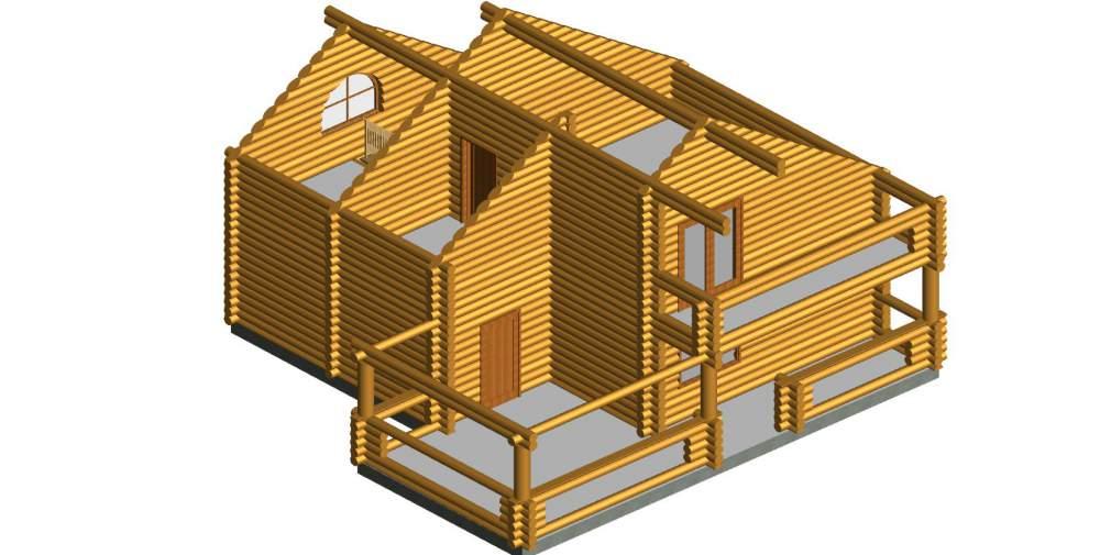 """Дом деревянный """"Малютка"""""""