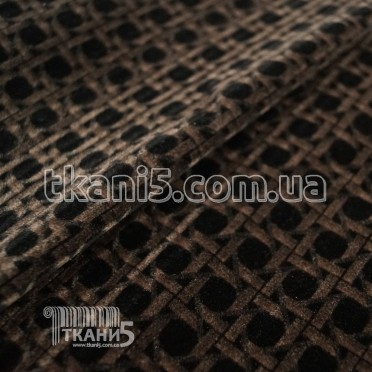 Buy Fabric Zamsh obivochny (black-brown) 7157