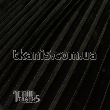 Buy Fabric Pleated velvet large (black) 6808