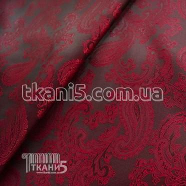 Купить Ткань Подклада жаккард вискоза хамелеон (бордовый)