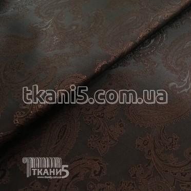 Купить Ткань Подклада жаккард вискоза хамелеон (шоколад)