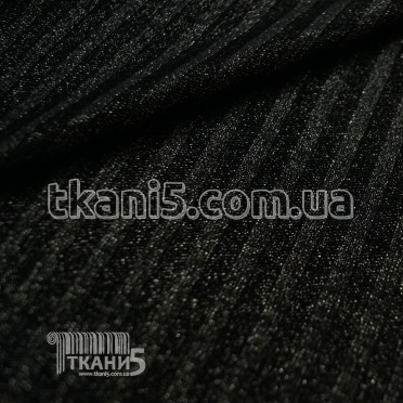 Buy Fabric Jersey Lurex a strip (black with gold thread) 7113