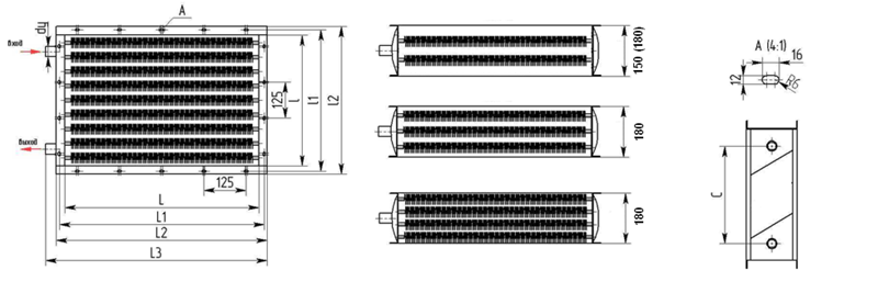 Калорифер водяной КсК-8