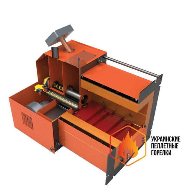 Пеллетная факельная горелка LIBERATOR RCE- 1000 кВт (1МВт)