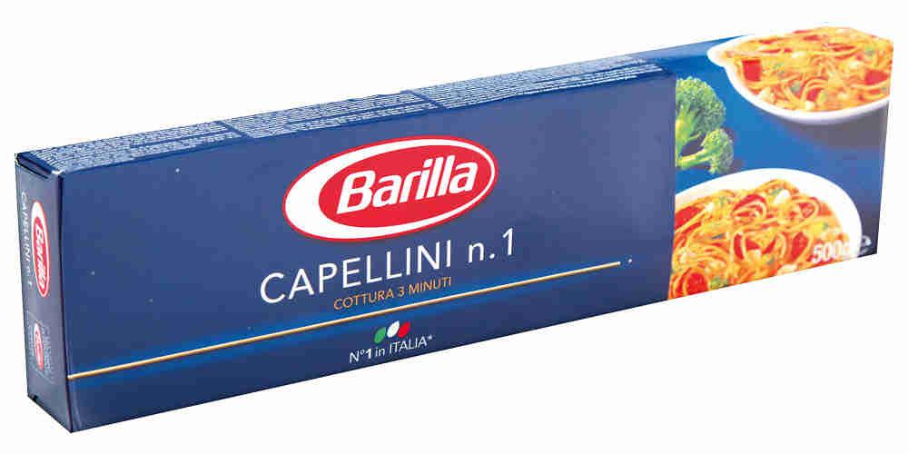Спагетти Барилла Капеллини № 1, 0,5кг