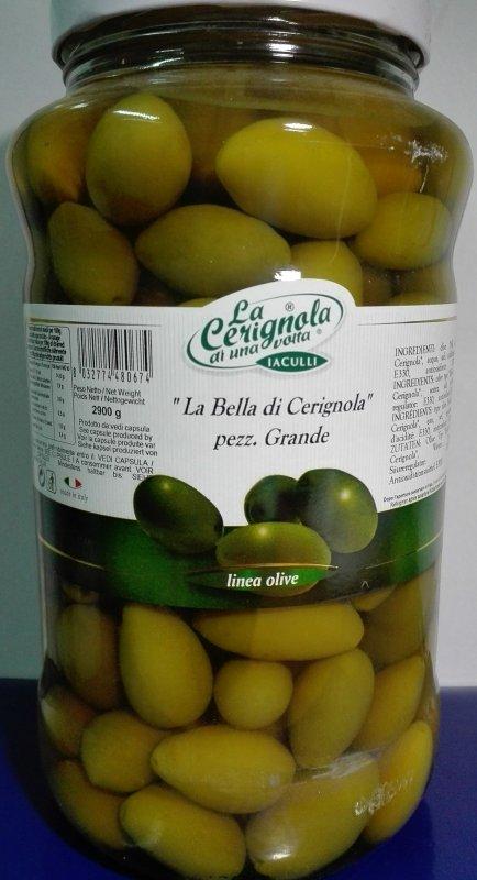 Оливки гигантские (Bella di Cerignola) 2.9кг