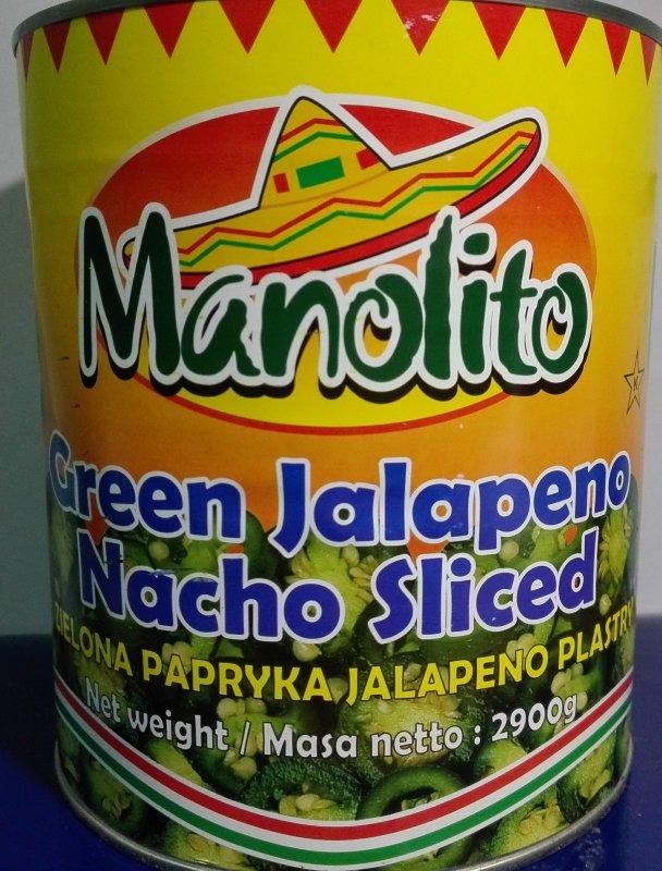 Зеленый перец Халапеньо кольца, 1,5/2,9 кг