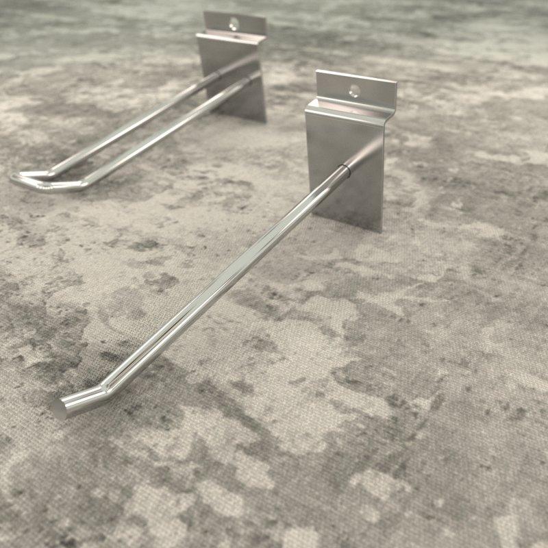 Крючок на эконом панель одинарный 100 мм хром