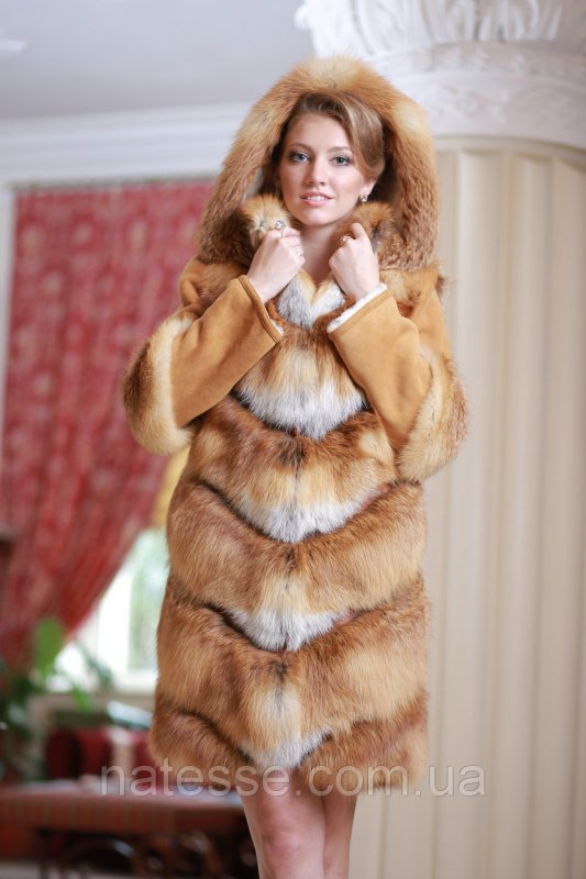 Шуба  жилет из лисы  Fox  fur coat and vest