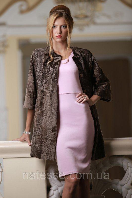Пальто из каракульчи цвета какаоswakarabroadtail jacket coat furcoat