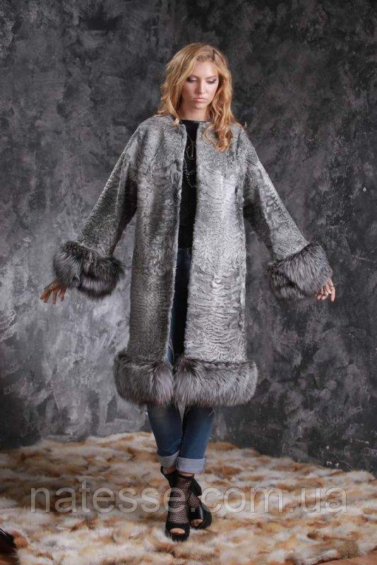 Шуба пальто из каракульчи SVAKARA со съемной чернобуркой swakarabroadtail jacket coat furcoat