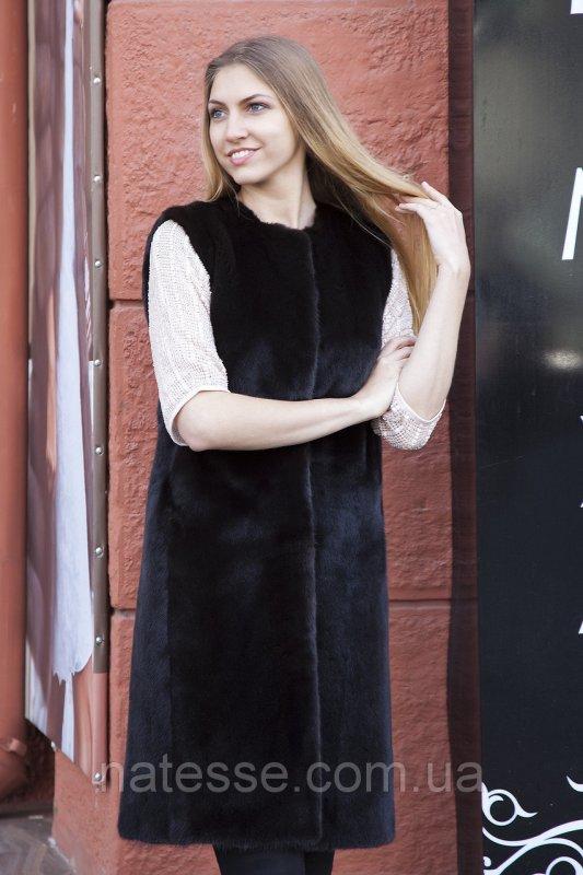 """Жилет из норки BlackNafa """"Лючия"""" real mink fur vest gilet"""