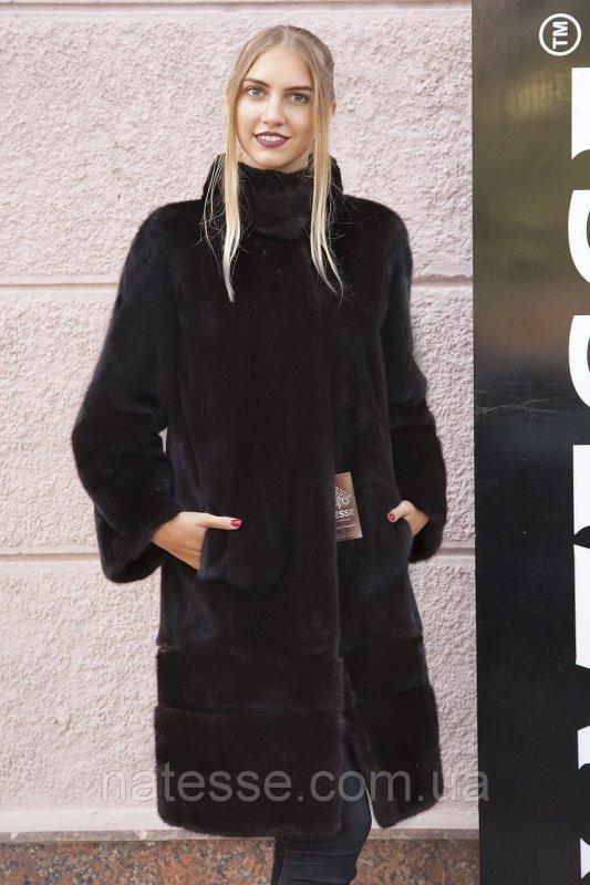 Шуба полушубок из датской норки Дина, Real mink fur coats jackets