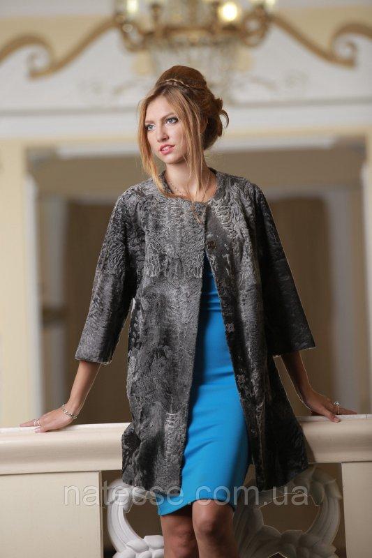 Пальто из каракульчи Swakara цвета Серебро swakarabroadtail jacket coat furcoat