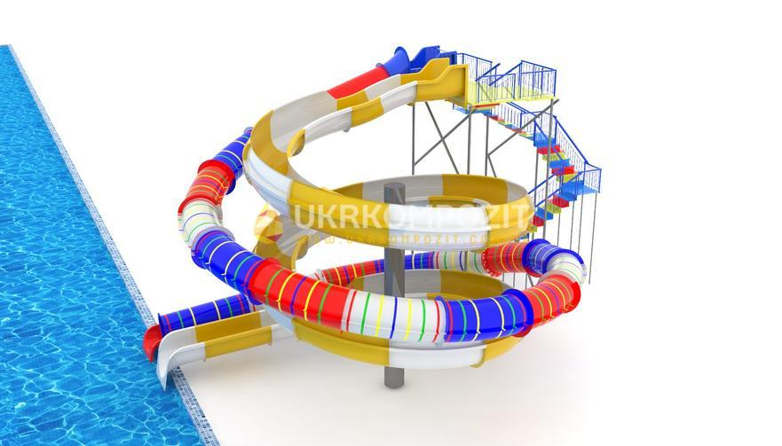 "Buy Waterslide of Ukrkompozit ""Surf"" of GT-BS-6.9"