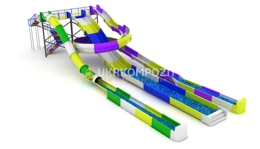 Buy Waterslide of Ukrkompozit Caribbean Islands of GT-FT-BS-5.2