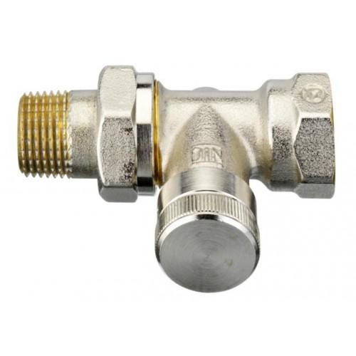 Клапан Danfoss RLV-15 прямой, никелированный для монтажа на обратной подводке отопительного прибора  003L0144