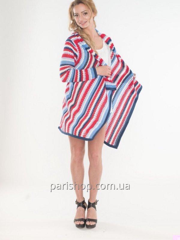 Buy Women's bright striped Yuka Paris cardigan (France) 17PE013