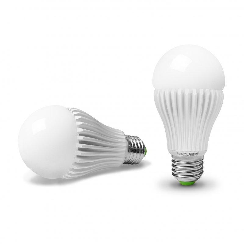 Классическая светодиодная Eurolamp LED Лампа Еко A65 15W E27 3000K