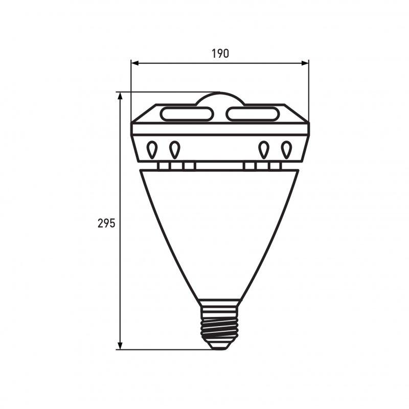 Светодиодная Eurolamp LED Лампа высокомощная 60W E40 6500K ГЛАЗОК