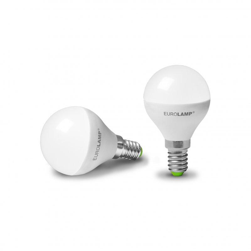 Светодиодная Eurolamp LED Лампа Шар Еко G45 5W E14 3000K