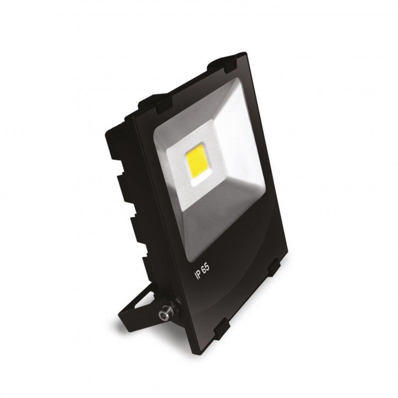 Светодиодный Euroelectric LED COB Прожектор с радиатором 50W 6500K modern