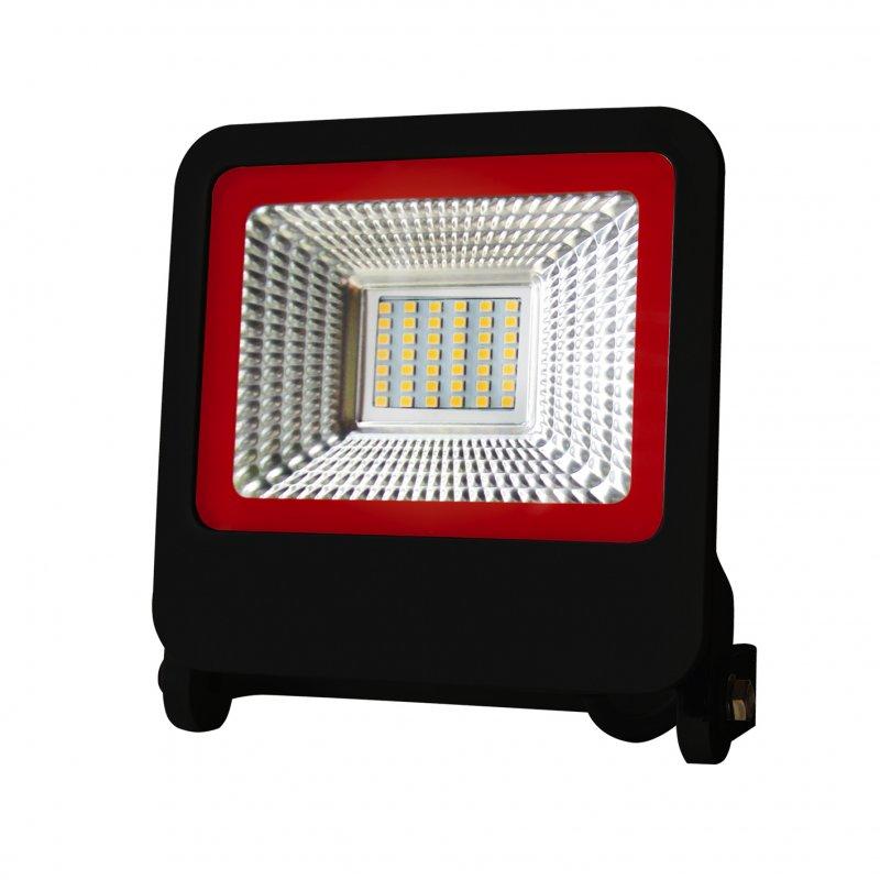 Светодиодный Euroelectric LED SMD Прожектор черный с радиатором New 30W 6500K