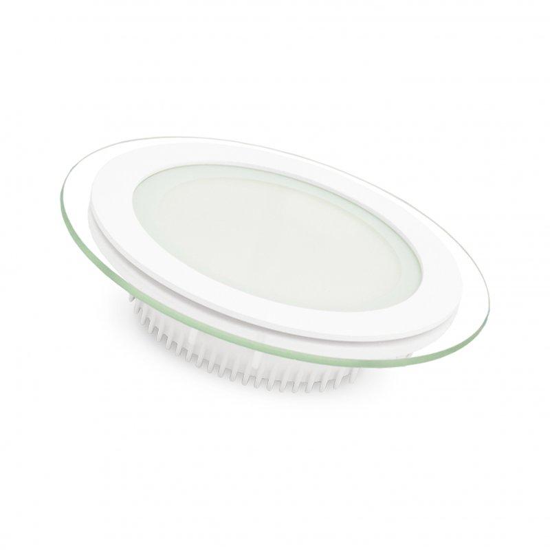 Светодиодный Eurolamp LED Светильник круглый Downlight 6W 3000K Стекло