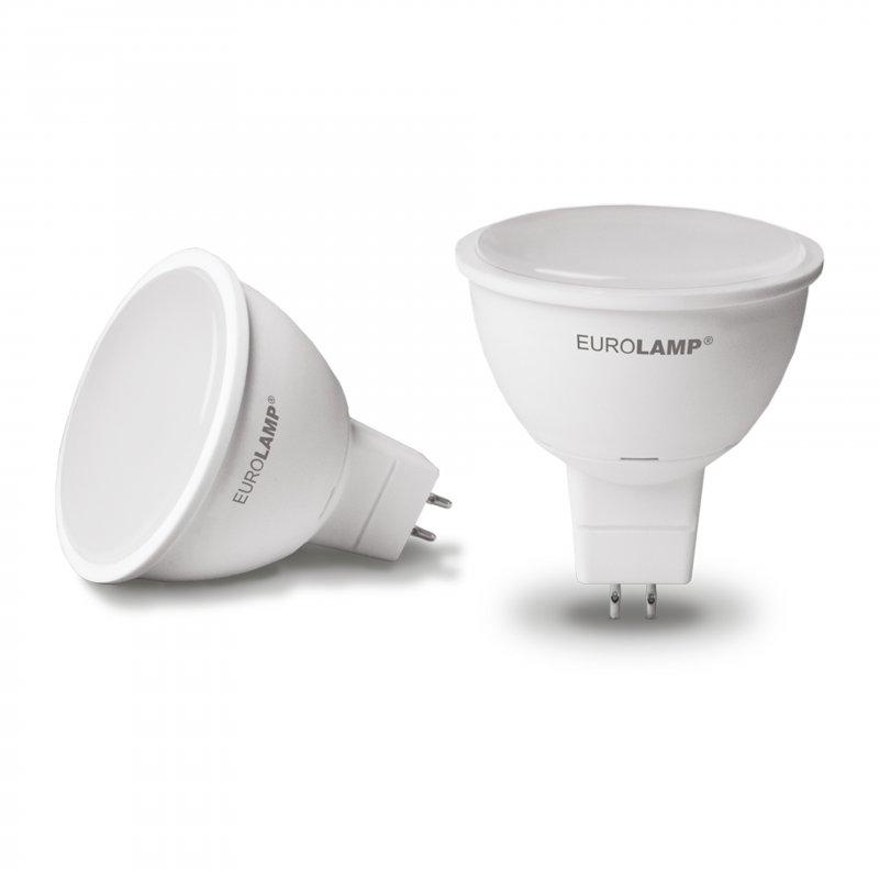 Точечная светодиодная Eurolamp LED Лампа Еко MR16 5W GU5.3 3000K