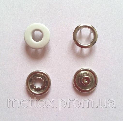 Купить Кнопка 10,5 мм (№ 101) белая бублик