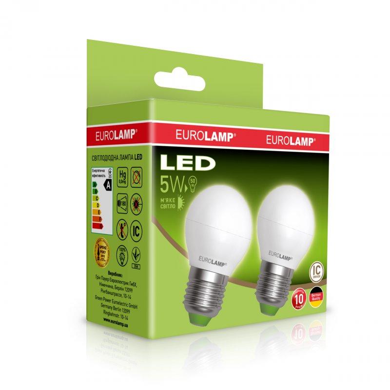 Промо-набор Eurolamp LED Еко G45 5W E27 3000K