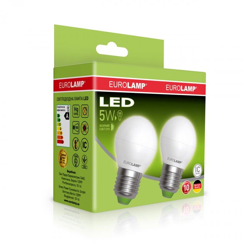 Промо-набор Eurolamp LED Еко G45 5W E27 4000K
