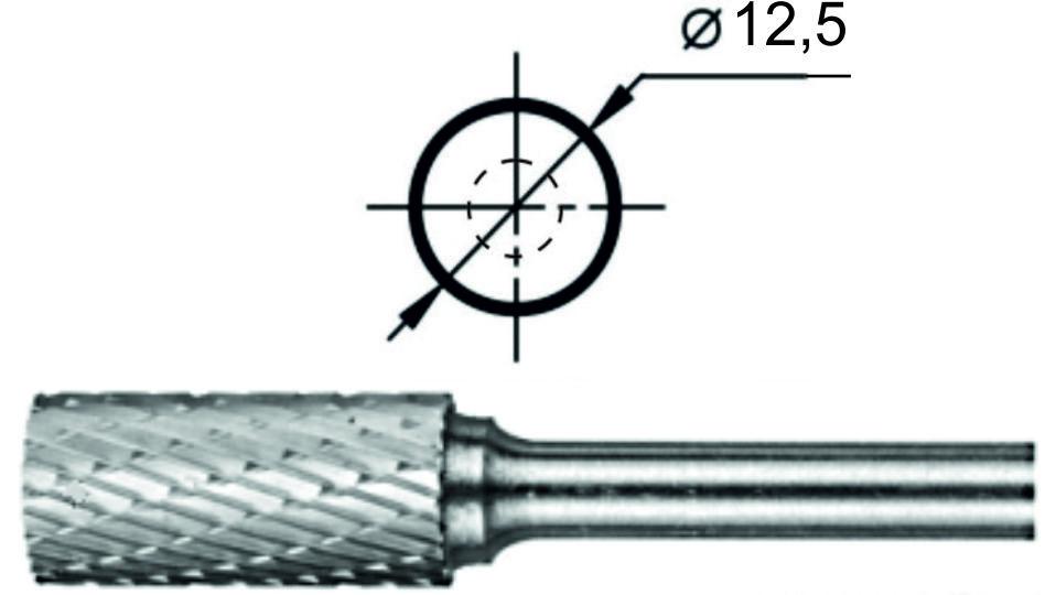 Купить Борфреза цилиндрическая с заточенным торцом АТ Ø12,5 мм.
