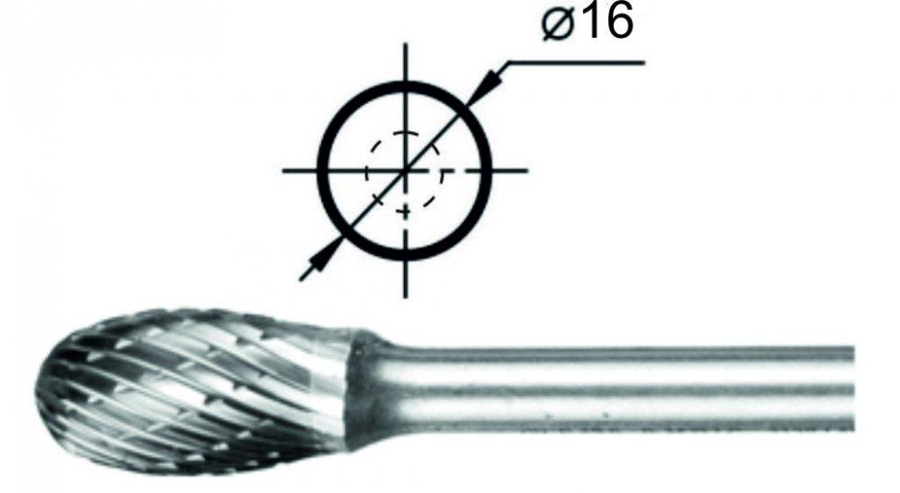 Купить Борфреза овальная Е Ø16 мм.
