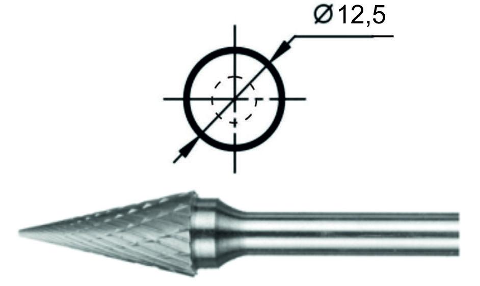 Борфреза коническая М Ø12,5 мм.