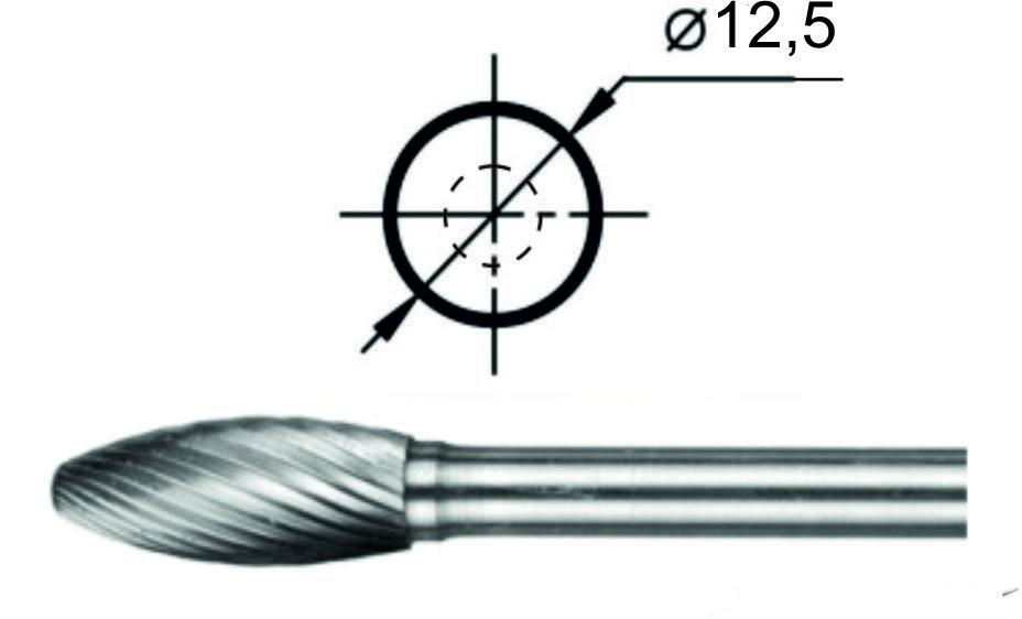 Купить Борфреза пламевидная Н Ø12,5 мм.