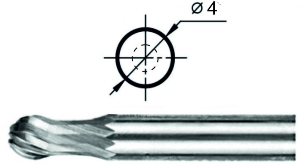 Борфреза сферогрушевидная Р1 Ø4 мм.