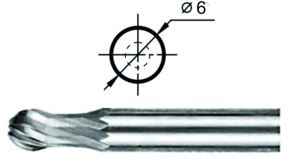 Борфреза сферогрушевидная Р1 Ø6 мм.
