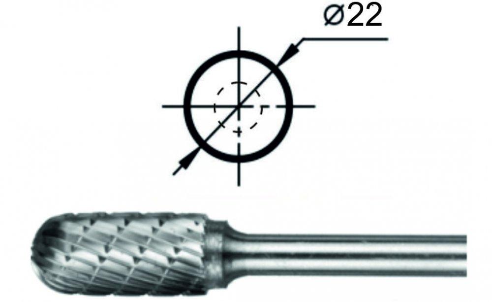 Борфреза сфероцилиндрическая С Ø22 мм.