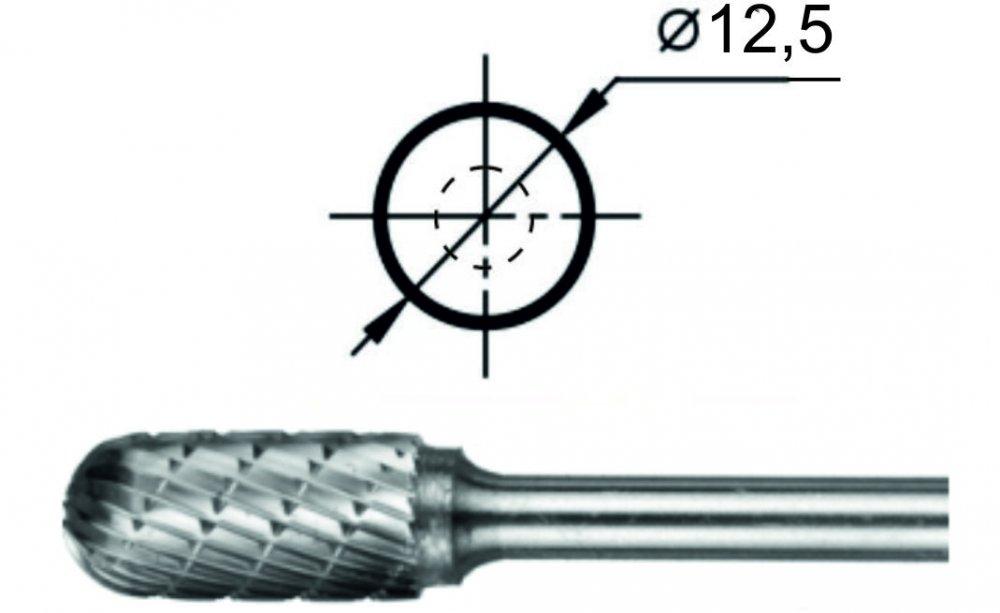 Борфреза сфероцилиндрическая С Ø12,5 мм.