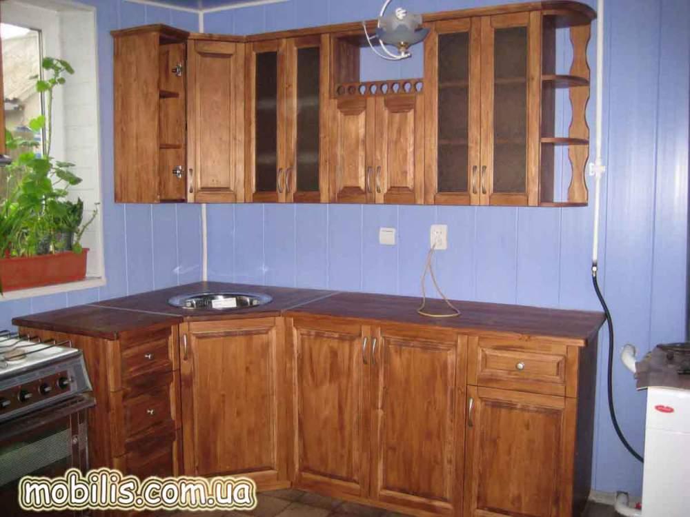 Кухня из натурального дерева фото цены харьков