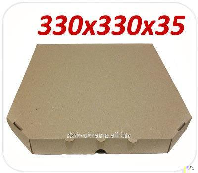 Коробка под пиццу, 33 (32) см, бурая