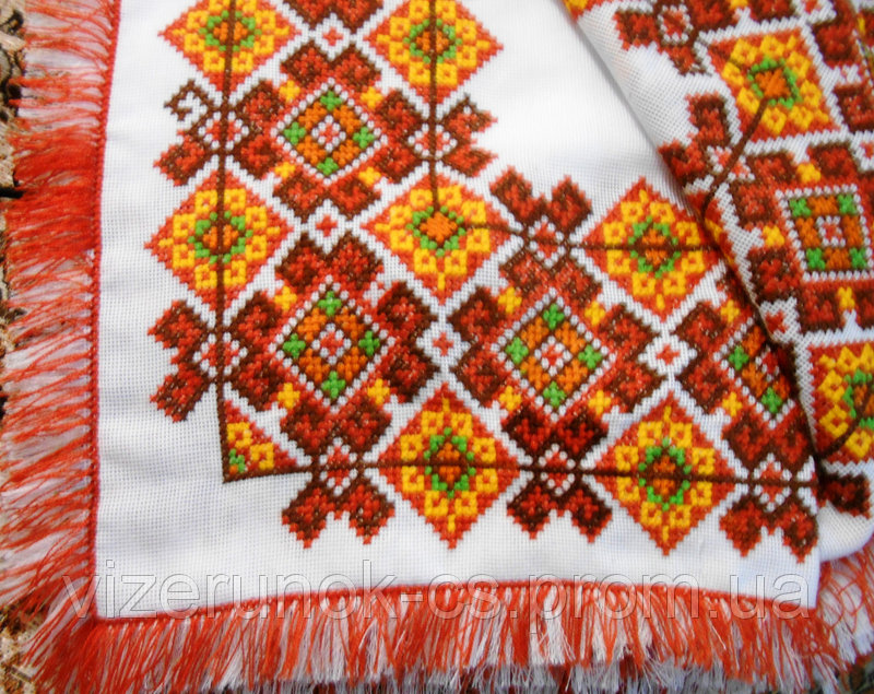 Buy Tablecloth embroidery Autumn Rhapsody fringed
