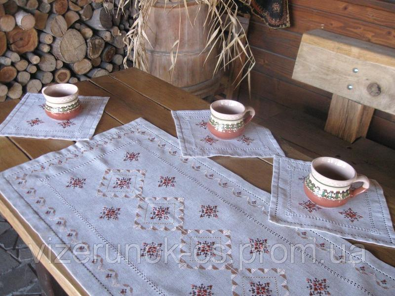 Vishity set path with napkins Terracotta