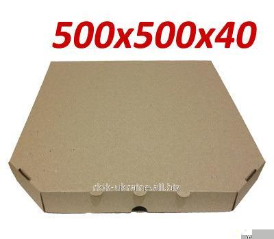 Коробка под пиццу, 50 см, бурая