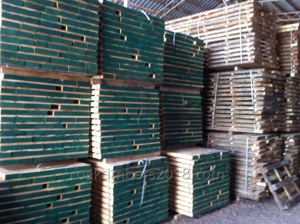 Доска Oak unedged board of freshly cut
