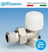 Кран термостатический 1/2'' угловой Pettinaroli Италия