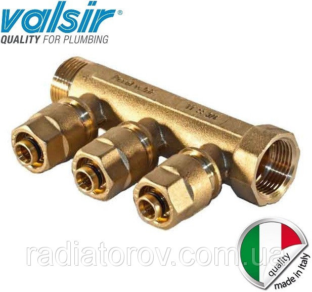 Коллектор Valsir на три вывода 3/4х3х16 (Италия)