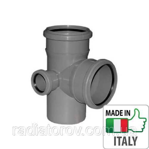 Крестовина двухплоскостная PPR Ø 110х50х110 67° для внутренней канализации Valsir Италия